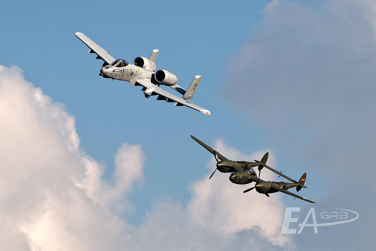 A10 & P38 Heritage Flight