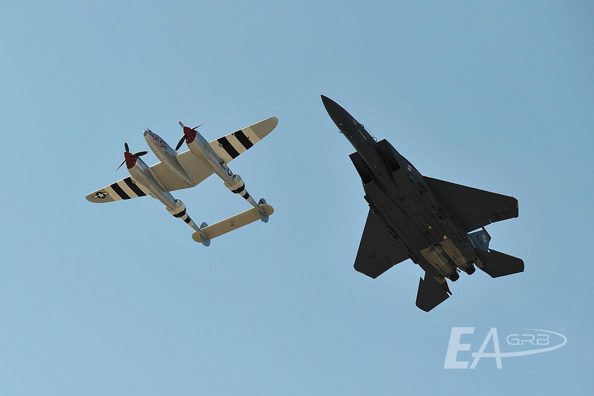 P38 & F15E Flyover LRZ